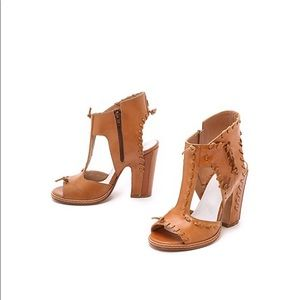 Maison Margiela Whipstitched Leather Sandals - Tan